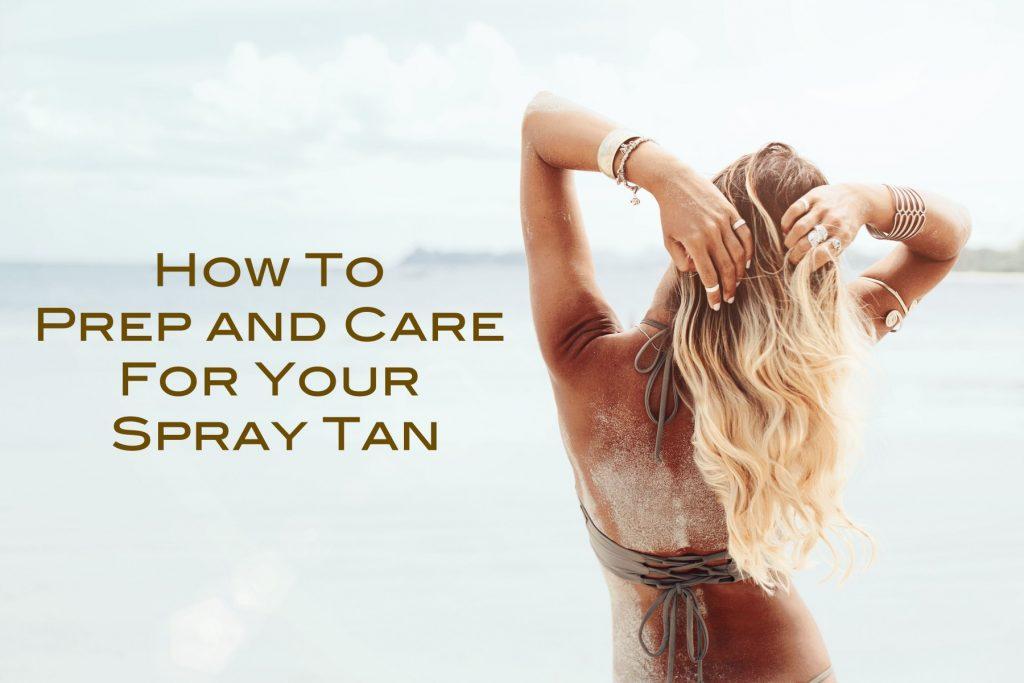 prep for spray tan